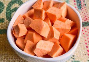 Sweet Potato, cut into pieces.